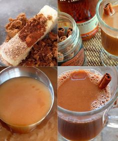 Hot Buttered Apple Cider Rum Drink. All we can say is YUM.