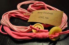 DIY T-Shirt scarves for Christmas - Utah Mama Utah Mama
