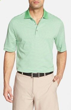 Mens Bobby Jones Flag Stripe Regular Fit Pima Cotton Golf Polo