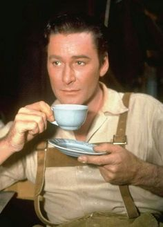 Errol Flynn, so handsome! (enjoy your coffee) - break time set of the film Escape Me Never.
