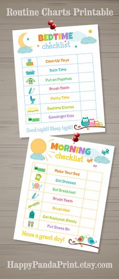 MORNING AND BEDTIME Checklist Printable Morning Routine Checklist Bedtime Routine Checklist Morning Chart Bedtime Chart Kids Chart To Do List Organizational Printables Kids Organizational Prints Routine Charts, Bedtime Chart, Bedtime Routine Chart, Morning Routine Checklist, Morning Routine Kids, Toddler Routine Chart, Morning Routine Chart, Bedtime Routine Printable, Before School Routine, Daily Routine Chart For Kids