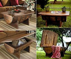 Superb tutorial for making this beautiful coffee table from an old barrel! Great DIY project for everyone!