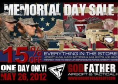 Godfather Airsoft Memorial Day Sale