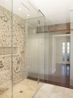 salle de bain mosaique en beige