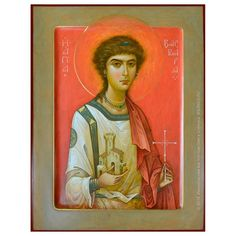 St Barbara by Oleg Shurkus Like Icon, All Icon, Byzantine Icons, Byzantine Art, Saint Barbara, Religious Icons, Orthodox Icons, Christian Art, Love And Light