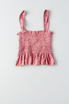 Don't Ask Why Smocked Peplum Crop Top