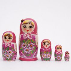 5 piece Russian doll Stacking matryoshka doll by artmatryoshka, $36.98