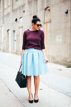 pretty pumps by kendi lea 19 09 2014 comments off Colourful Outfits, Simple Outfits, Chic Outfits, Colorful, Blue Skirt Outfits, Red Skirts, Spring Summer Fashion, Spring Outfits, Autumn Fashion