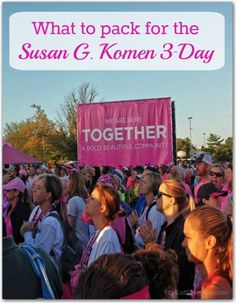 Eat. Sleep. Be. included Zim's Max-Freeze in their things to pack for the Susan G. Komen 3-Day. Check out the complete list.