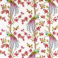 Paradiso fabric by Nina Campbell distributed by Osborne & Little: NCF3940-03 www.osborneandlittle.com
