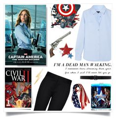 """""""Officially Civil War"""" by heyra ❤ liked on Polyvore featuring Post-It, A.P.C., STELLA McCARTNEY, Ann Demeulemeester, Marvel Comics, Talia Naomi, men's fashion, menswear, contestentry and CaptainAmericaCivilWar"""