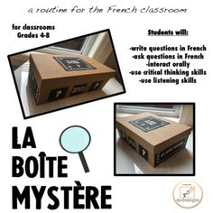 Are you looking for an engaging activity to introduce a new unit, or to get your FSL students speaking in the target language? Perhaps you would like your students to practice asking questions with purpose, in an authentic activity. French Teaching Resources, Teaching French, Learning Resources, Teaching Ideas, French Conversation, French For Beginners, Core French, Ap French, French Kids