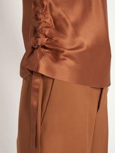 Ruched silk-satin cami top   Helmut Lang   MATCHESFASHION.COM US