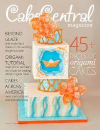 Cake Central Magazine ON THE COVER Cakes Across America visits Utah Beyond Glaze - Exploring the doughnut tower wedding trend Intricate Origami Cakes Origami. Wasc Cake Recipe, Icing Recipe, Square Wedding Cakes, Marshmallow Fondant, Cake Central, Cake Board, Cake Cover, Box Cake, Origami