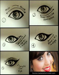 Makeup Tips: Beauty Tips: Cat Eyes Tutorial
