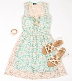 Deb Shops #mint and #lace #dress