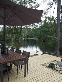 Grill Table, Lakeside Living, Lake Life, Log Homes, Country Life, Garden Furniture, My House, Terrace, Pergola