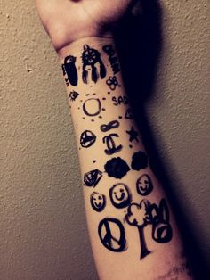 arm, cool, doodle, grunge, tumblr, whatever, arm doodle