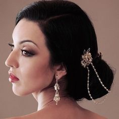 Paris Designer Bridal Hair Accessories. School for Scandal bridal hair ornament is a pearl & crystal vintage piece that can be worn in a variety of ways.