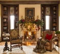 Fresh and natural Christmas decor for a home in Arkansas