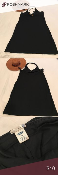 Black Halter Dress Casual Black Halter Tank Dress. Wear this casual halter tank dress to the beach, to an out door fair or on a day trip. Throw on a pair of sandals or a air of pumps with a sun hat and go and have fun! Old Navy Dresses Midi