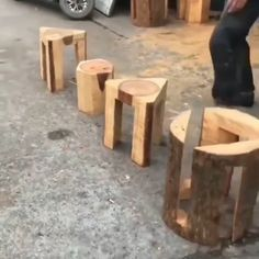 Woodworking Ideas Table, Woodworking Techniques, Woodworking Projects Diy, Woodworking Furniture, Woodworking Plans, Rustic Log Furniture, Wood Shop Projects, Bois Diy, Wood Joinery