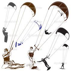 kitesurf — Illustrazione Stock #51867061