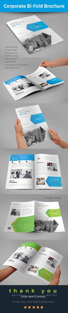 Corporate Bifold Brochure #brief #project  • Download here → https://graphicriver.net/item/corporate-bifold-brochure/21148787?ref=pxcr