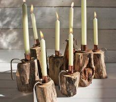 Top 35 of Most Awesome D I Y Driftwood Vintage Decorations. G D S Gör det själv. Driftwood Candle Holders, Diy Candle Holders, Diy Candles, Driftwood Furniture, Driftwood Projects, Diy Furniture, Decoration Christmas, Vintage Diy, Wooden Diy