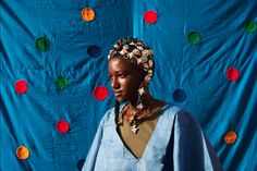 """blackfeminism: """" Madinatou Soumailou Toure, 15, wears a traditional Songhai headdress made by artisan Hally Bara in Gao, Mali, March 6 2013. (Photo by Joe Penney/Reuters) """""""