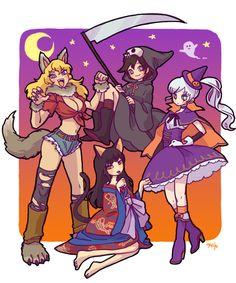 happy halloween! RWBY