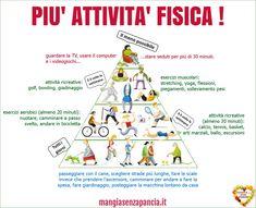 più attività fisica - piramide
