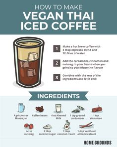 How to Make Vegan Thai Iced Coffee - Breakfast foods - Kaffee Egg Coffee, Coffee And Books, Coffee Cafe, Espresso Coffee, Coffee Beans, Coffee Shop, Coffee Lovers, Espresso Recipes, Coffee Recipes