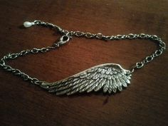 Angel Wing Jewelry Silver Anklet Ankle  by whitedovejewels on Etsy, $25.00