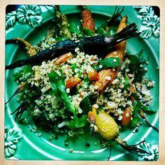 Spring Quinoa Salad with Roasted Heirloom Carrots & Tahini Dressing