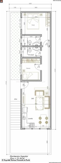 nhà lo pho Brown Things brown color on salmon Apartment Layout, Apartment Plans, Small House Plans, House Floor Plans, Building Plans, Building A House, Compact House, Casas Containers, Narrow House