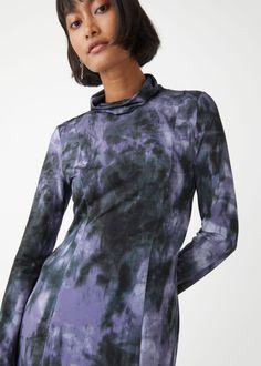 Tie-Dye Midi Dress - Purple Print - Midi dresses - & Other Stories GB