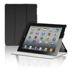 The New iPad 3rd Generation Magnetic Smart Cover Portfolio Case by Photive With Built In Stand (with front and back protection)