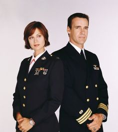 JAG leading lady Catherine Bell is joining her co-star David James Elliott for a recurring stint on CBS' NCIS: Los Angeles. Classic Actresses, Actors & Actresses, Jag Image, David James Elliott, Bell Pictures, Mcleod's Daughters, Catherine Bell, American Series, Army Wives