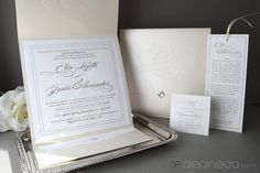 Invitaciones de Bodas, Houston TX, Ale Pineda Designs