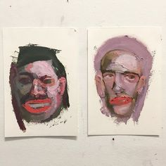 """adam lupton - amazing artist - amazing attitude ! *I have a wall of quotes I use to keep my ass in gear, so this one is pretty apt right now: """"You can't get much done in life if you only work on the days you feel good."""" Back to it all with these two sketches from this afternoon. #oil #painting"""