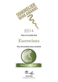 An award for Eurowines - Italian Wine Merchant of the Year 2014!