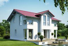 Evolution 125 V4 - Bien Zenker - http://www.hausbaudirekt.de/haus/evolution-125-v4/ - Fertighaus als Einfamilienhaus Modernes Haus Stadthaus mit Satteldach