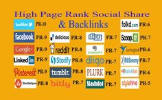 Social share from high page rank social bookmarking sites