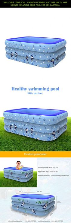 Inflatable Kiddie Pool, Vogvigo Portable and Safe Multi-layer Square Inflatable Kiddie Pool for Kids Cartoon Pattern Printed Baby's Playing Swimming and Bathing Pool (Cartoon Characters Pattern) #technology #products #camera #kit #plans #shopping #parts #tech #drone #pools #hard #racing #fpv #kiddy #gadgets