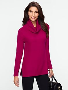 Talbots - Textured Cowlneck Sweater | New Arrivals | Misses