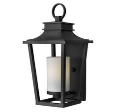 """View the Hinkley Lighting 1744-GU24 1 Light 18.25"""" Height Title 24 Fluorescent Outdoor Lantern Wall Sconce from the Sullivan Collection at LightingDirect.com."""