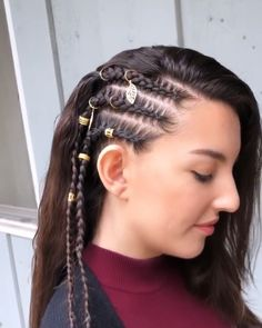 Braids With Bead Embellishments - 40 Best Big Box Braids Hairstyles Big Box Braids Hairstyles, Prom Hairstyles For Short Hair, Roll Hairstyle, Retro Hairstyles, Straight Hairstyles, Braided Hairstyles, Medium Hair Styles, Curly Hair Styles, Natural Hair Styles