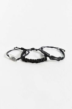 3 Mixed Leather Bracelet Set