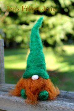 Felt gnome Nisse man tomteWaldorf gnome by JensFeltedJems on Etsy Needle Felting Supplies, Needle Felting Tutorials, Easy Felt Crafts, Felt Fairy, Felt Christmas Ornaments, Christmas Gnome, Needle Felted Animals, Felt Patterns, Felt Toys